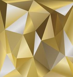 Polygonal background bronze vector