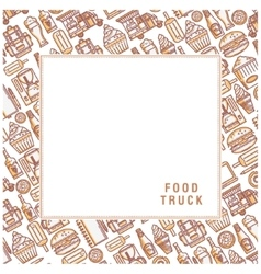 Postcard van food vector image