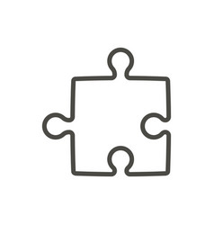 puzzle icon line solution concept symbol vector image