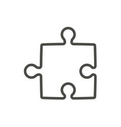 Puzzle icon line solution concept symbol vector