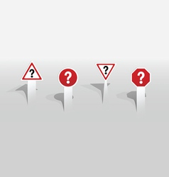 Question mark signs vector
