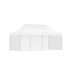 Rectangular display tent mockup isolated vector