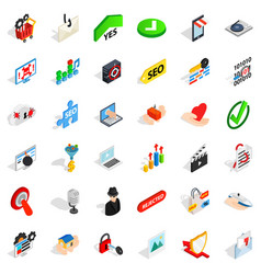 Safety icons set isometric style vector
