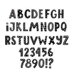 scandinavian latin alphabet for greeting cards vector image