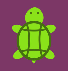 Sea turtle hand drawn turtle isolated on vector
