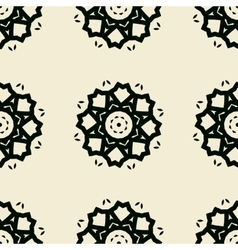 Seamless stylized flowers lace tile vector image