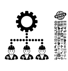 Service Staff Flat Icon With Bonus vector