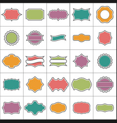 set 25 labels and tags vector image