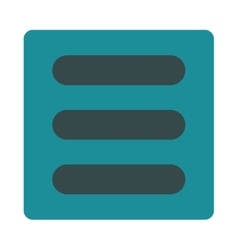 Stack flat soft blue colors rounded button vector