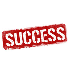 success grunge rubber stamp vector image