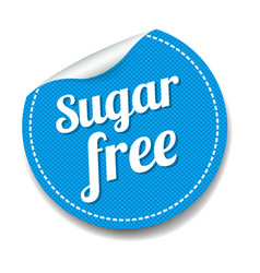 Sugar free sticker isolated white background vector