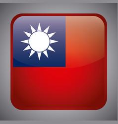 Taiwan flag design vector