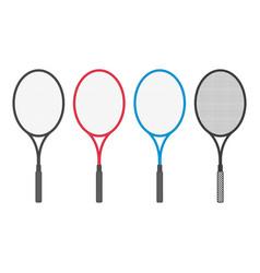 tennis racket set vector image