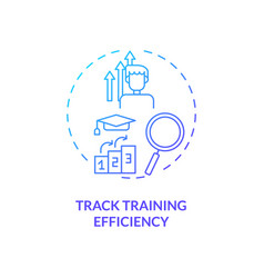 Tracking training efficiency concept icon vector