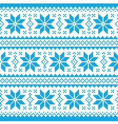 Traditional ornamental christmas knitted pattern vector image