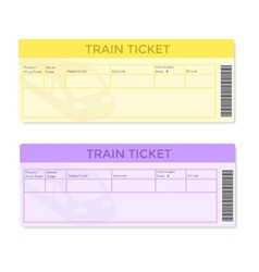 Train Tickets in Two Color Versions vector