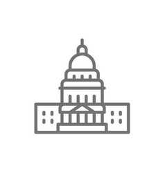 united states capitol famous american buildings vector image