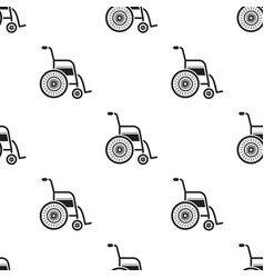 Wheelchair icon black single medicine icon from vector