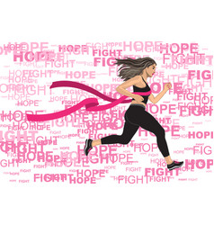 winner running woman vector image