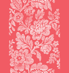 4 Abstract hand-drawn floral seamless pattern vector image vector image