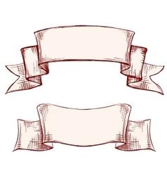 banners labels set vintage frame hand drawn vector image