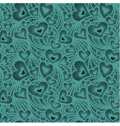 Decorative lace pattern with hearts vector