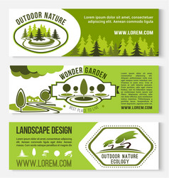 landscape and outdoor nature design banners vector image