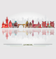 luxembourg city background vector image