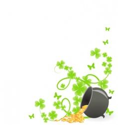 St Patrick's pattern corner vector image vector image