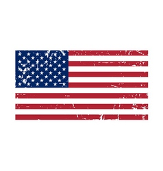 Flag USA sign Grunge National symbol vector image vector image