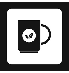 Mug with tea icon simple style vector image vector image