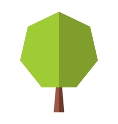 New tree flat icon vector image vector image