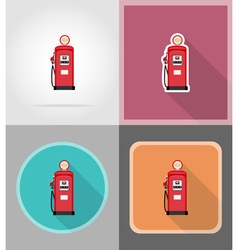 power and energy flat icons 09 vector image