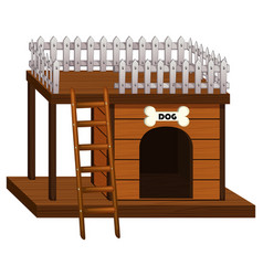 dog house made of wood vector image