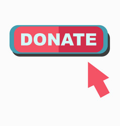 Donate signboard with arrow pointing on board vector