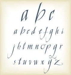 hand drawn calligraphic alphabet vector image vector image