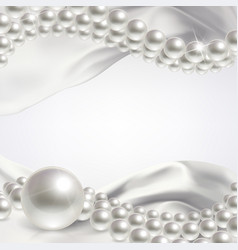 wedding background with pearls vector image