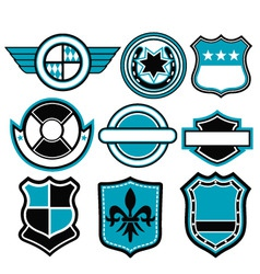 badge symbol vector image vector image