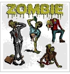 Cartoon zombie - set vector