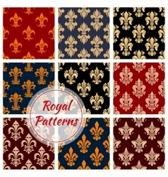 Floral royal ornament and damask patterns vector image vector image