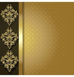 Gold backgroun vector image vector image