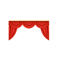 Icon of red silk or velvet curtains and pelmets vector