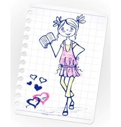 sketch school vector image