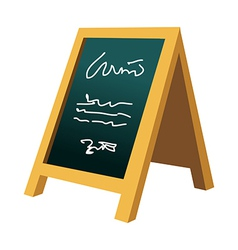 A menu is placed vector