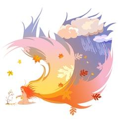 Autumn angel vector