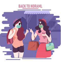 back to normal vector image