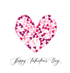 Background with hearts and happy valentine s day vector