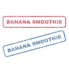 Banana smoothie textile stamps vector
