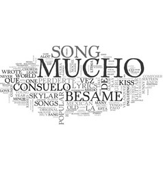 Besame mucho guitar chords and lyrics text word vector
