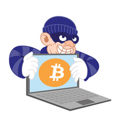 Bitcoin cyber thief vector